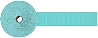 Amscan 18205.121 Party Crepe Streamer, 500', Robin's egg blue