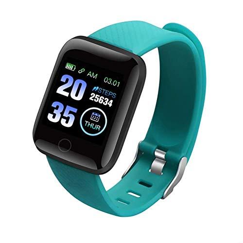 DOOK Smartwatch, Relojes Inteligentes Impermeable IP68 para Mujer Hombre niños,con Monitor de Frecuencia Cardíaca/Sueño/Calorías/Pasos, Pantalla Inteligente de 1.3'para iOS Android,Verde
