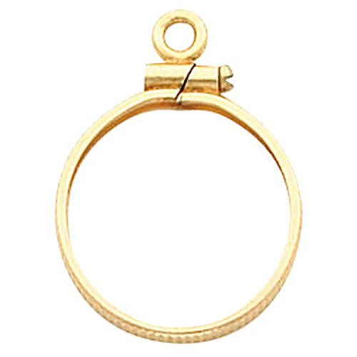 Coin Edge Screw-Top Coin Frame Mounting in 14K Yellow Gold