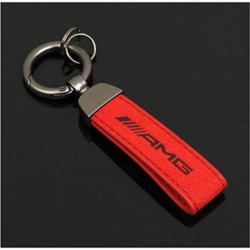 LWYLBP Keychain Schlüsselanhänger Ring Schlüsselanhänger, Red M Dreifarbiger Sport-Autoschlüsselanhänger-AMG
