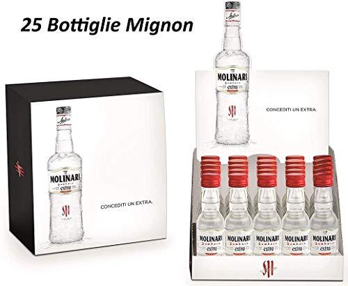 MOLINARI 25 MIGNON MINIATURE Flaschen 3 CL