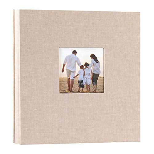 potricher Linen Hardcover Photo Album 4x6 600 Photos Large Capacity for Family Wedding Anniversary Baby Vacation (Beige, 600 Pockets)