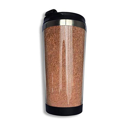 Hdadwy Taza de viaje personalizada metálica brillante de cobre oxidado Vaso de...