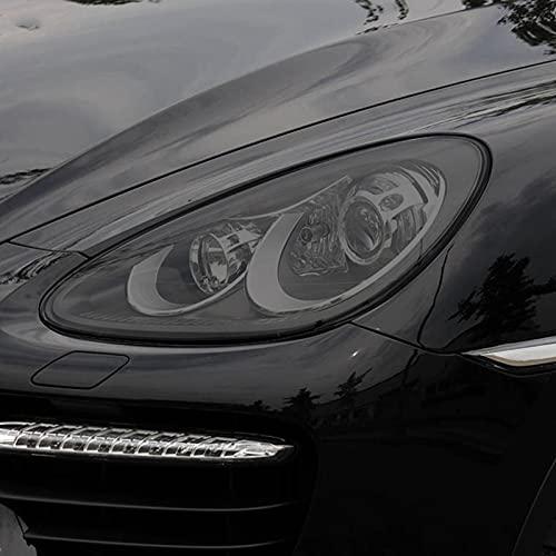 YYHHADM Car Headlight Protective Film Taillight Smoked Black Tint Wrap Transparent TPU Sticker,for Porsche Cayenne 92A 2011-2014