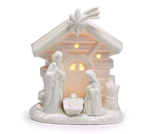 burton+BURTON Light Up White Holy Family Nativity