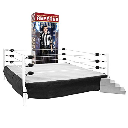 Special Deal: Wrestling Ring for Action Figures & Talking Wrestling Referee Figure