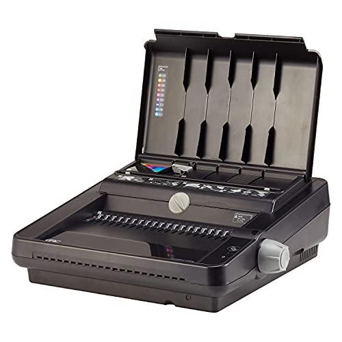 GBC Binding Machine, Electric, Binds 500 Sheets, Punches 25 Sheets, CombBind C450E (7709100), Off-White