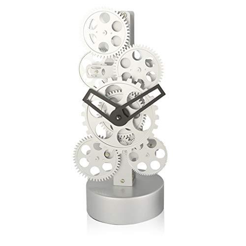 LYM $ Digitaler Wecker Tischuhr Zahnräder Tischuhren Für Wohnzimmer Dekor Nicht Ticking Stille Batteriebetriebene Kreative Persönlichkeit Dekoration Quarz