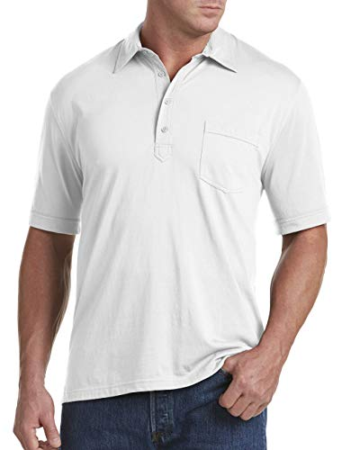 Harbor Bay by DXL Big and Tall Golf Polo Shirt, White 4XL