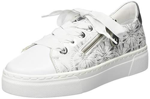 Remonte Damen R3101 Sneaker, Weiß (Weiss/Reinweiss/Silber/Argento 80), 42 EU