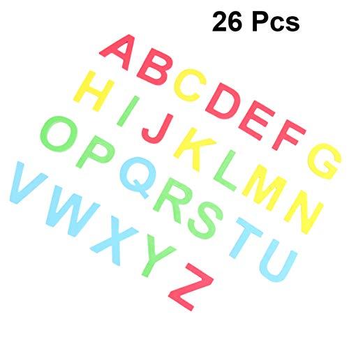 STOBOK Lettres Majuscules Aimant Alphabet Magnétique Autocollants Autocollants Colorés en Plastique Abc Tableau Blanc Fournitures Réfrigérateur Aimant