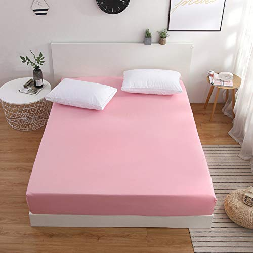DOUJIAO Simple Solid Color Bed Sheet Mattress Cover, Multi-Size 30Cm Depth, No Pillowcase160x200cm+25cm