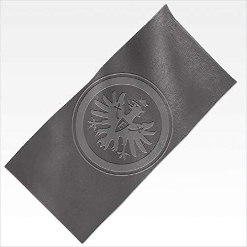 Eintracht Frankfurt Badetuch Relief grau, Duschtuch 70 x 180 cm, Strandtuch, Saunatuch SGE - Plus Lesezeichen I Love Frankfurt