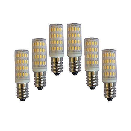 Bombilla de luz de maíz LED E14 COB 12V 24V 5W 63 SMD 4015 Fresco blanco/blanco cálido 12-24V AC/DC 5W 63LED 4014 400-450 LUMEN 6-Pack (Color : Warm white)