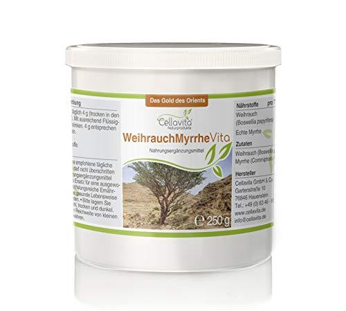 CELLAVITA Weihrauch-Myrrhe Vita 2-Monatsvorrat 250g | Weihrauch (Boswellia papyrifera) & echte Myrrhe (Commiphora Myrrha)