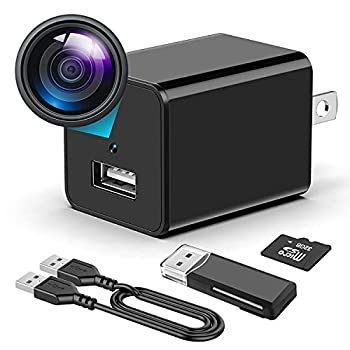 Hidden Camera Charger - Mini Spy Camera with Audio and Video - Nanny-Cam - Portable Motion Detection 1080P Small HD Secret Surveillance Camera Can be Used in Bathroom Home or Office