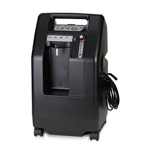 MEI XU Generador de oxígeno, el oxígeno portátil Inicio Silencio absorbedor 5L litros de oxígeno Generador de oxígeno de la máquina Inicio Alquiler Barra de oxigeno (Color : Black)