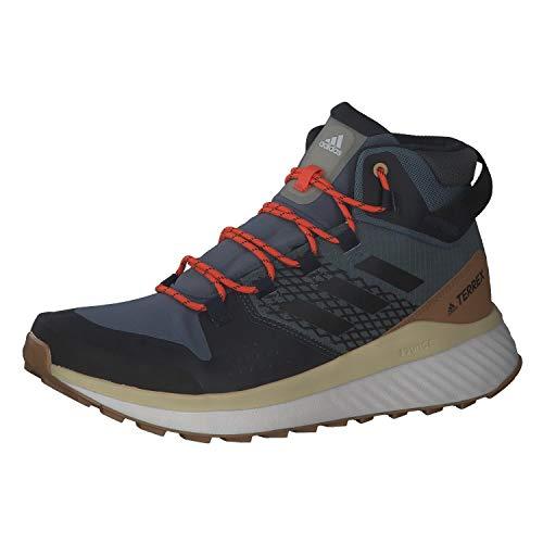 adidas Herren Terrex Folgian Hiker Mid GTX Leichtathletik-Schuh, Legacy Blue/Core Black/Legend Ink, 43 1/3 EU