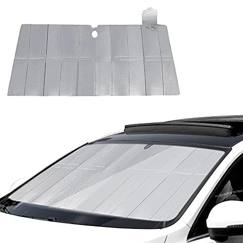 KBNIAN Parasol Coche Delantero Plegable Protector de Parabrisas de Coche de PE Cubierta para Parabrisas de Coche Protector para Parabrisas Sol para Protege de Rayos UV para Coches y Suvs - 130*70cm