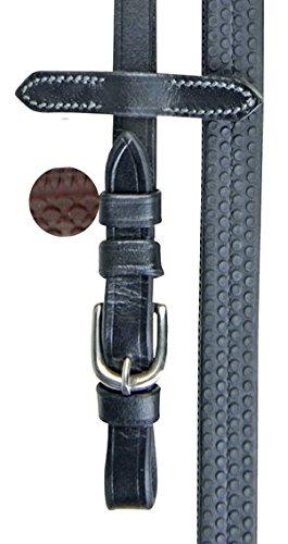 HKM Zügel mit Gummibezug, schwarz, Vollblut