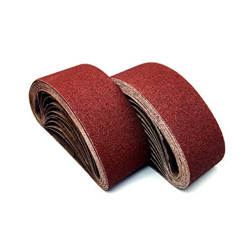 3 x 24 Sanding Belt,80 Grit Aluminum Oxide Sanding Belts | Premium Sandpaper Belt For Belt Sander 3x24 ,18 Pack(3x24in,80 Grit)