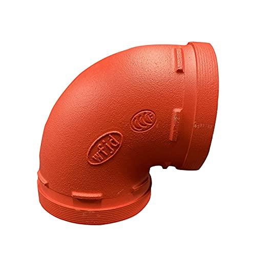 HNHYNSY Accesorios de tubería de Agua 90 Grados Codo de Fuego Tubo galvanizado Tubería de Drenaje Codo (Size : 140)