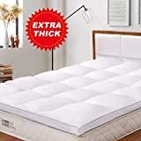 BedStory Mattress Topper Double Size, Hypoallergenic Microfiber Mattress Topper 2.3 Inch thick, Hotel