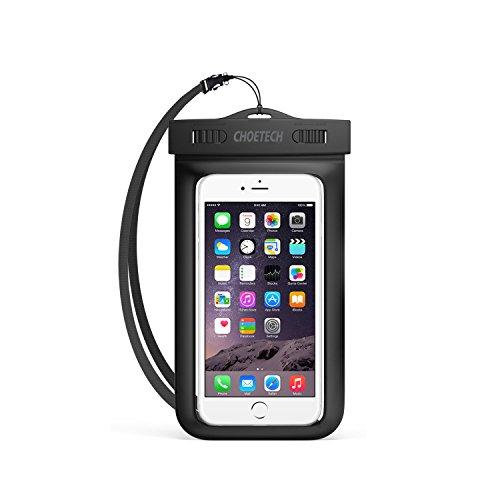 Custodia Impermeabile Smartphone Choetech® [15 Cm / 6 Pollici] Busta Cellulare Impermeabile Universale per iPhone SE / 6s / 6s Plus, Samsung S7 / S7 edge / S6 / S6 Edge / Note 7, Huawei, HTC, Nexus ed altri Smartphone - Nero