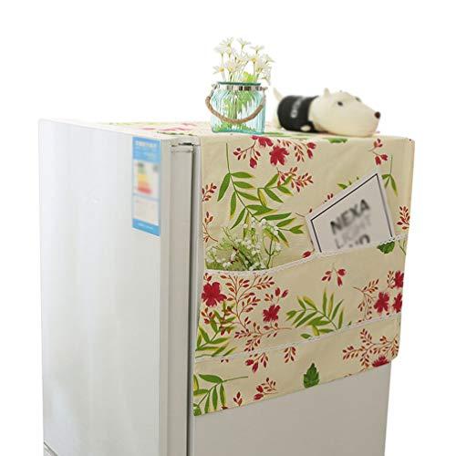 Liangzhu Multifunktion Waschmaschinen Staubschutz mit Aufbewahrungstasche Kühlschrank Staubdicht Abdeckung Gedruckt Mikrowelle Abdeckung (Stil3, 58 * 135 cm)