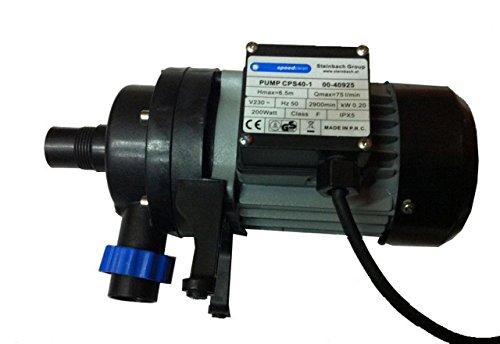 Steinbach Filterpumpe CPS40-1, nicht selbstsaugend, 230 V/200 W, Q= 75 l/min, max. Pumphöhe 6,5 m, 040925