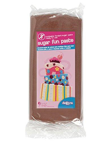Pasta di zucchero marrone senza glutine 250g Taglia Unica