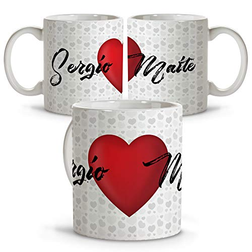 Taza Personalizada con Frase/Nombre. Regalos San Valentin Personalizados. Tazas Personalizadas Interior Color. Taza San Valentin de Cerámica. I Love You