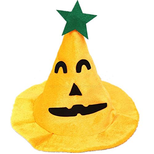 Sale!! Halloween Headdress Halloween Pumpkin Hat Holiday Party Yellow Velvet Llama Witch Hat Carniva...