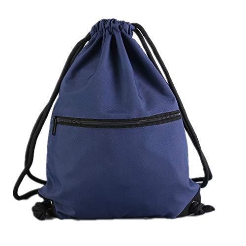Aiditex Men & Women Sport Gym Sack Drawstring Backpack Bag (Navy)