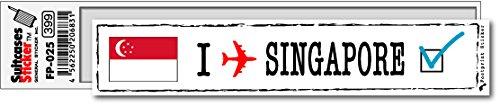 FP-025 フットプリント ステッカー/シンガポール(SINGAPORE) スーツケースステッカー 機材ケースにも! (白)