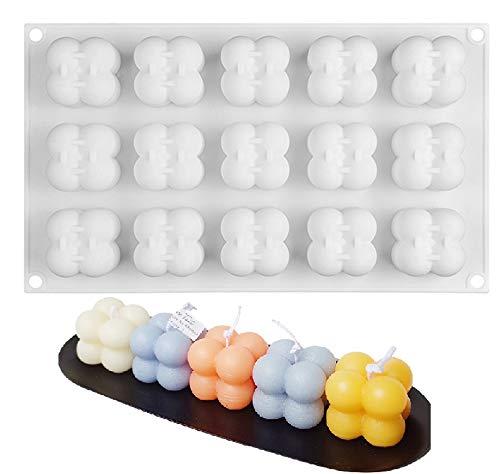 15in1 Kerzen Silikonform 3D Mini Magic Bubble Cube Ball Harz Kerze Silikon Form Seife Form DIY Schokolade Candle Resin Soap Silicone Molds