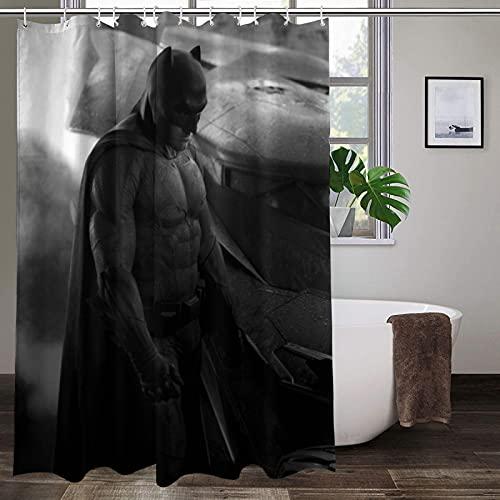 Duschvorhang-Set, wasserdicht, schimmelresistent, Polyester, Batman-Design, mit Haken