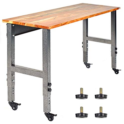 Seville Classics Ultra Graphite Workbench on Wheels