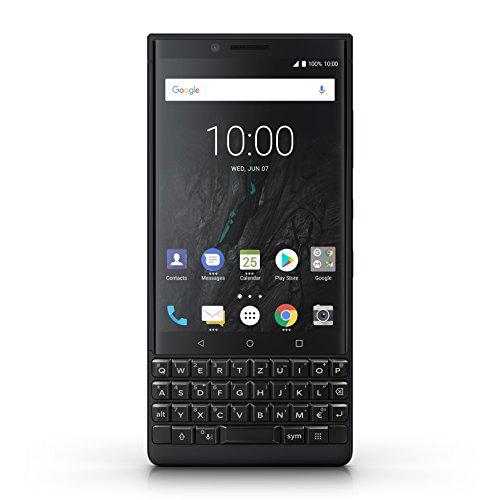 BlackBerry prd-63828–008key2Dual SIM Smartphone (11,4cm (4,5pouces), 128GB, appareil photo 12Mpx, Android 8.1) Noir, clavier QWERTZ