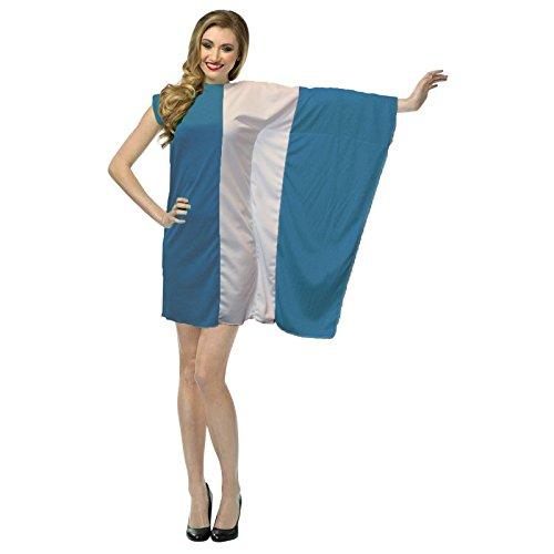 The Dragons Den Disfraz de bandera de Grecia para mujer, disfraz patritico griego