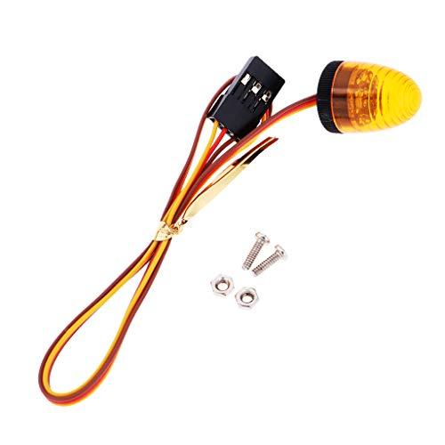 Fenteer LED Lampen Blitzlicht Nachtlichter Beleuchtung für 1/14 RC LKW Crawler - Gelb