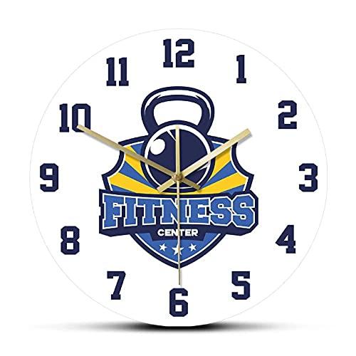 JKLMZYT Gimnasio y Gimnasio Reloj de Pared silencioso Reloj Relojes Edificio Muscular Entrenamiento Deportivo Decoración del hogar Diseño moderno-30X30cm