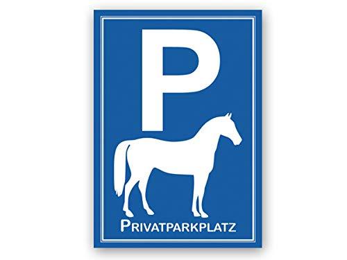 Parkplatzschild Pferd Privatparkplatz - Stall, Reitanlage, Tierarzt, Wanderreitstation (Hartschaum)