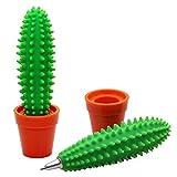 Joybuy Bolígrafo con forma de cactus, bolígrafo en maceta, para escuela, oficina, regalo para niños y estudiantes, 1 unidad