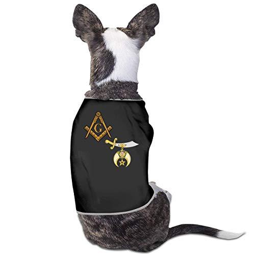 Florasun Mason Shriner Split Fashion Pet T-Shirt Haustier Outfits Welpen Haustier Kleidung für Hunde Weste Schwarz S