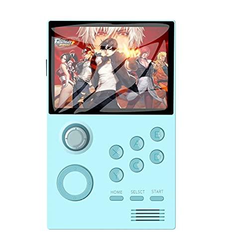 RUIHUA Android-Handheld-Spielkonsole Bluetooth 4.0 Pandora's Box IPS-Bildschirm eingebaut 3000 + Spiele 30 3D-Spiele Support TV-Ausgabe WLAN-Download,Blau