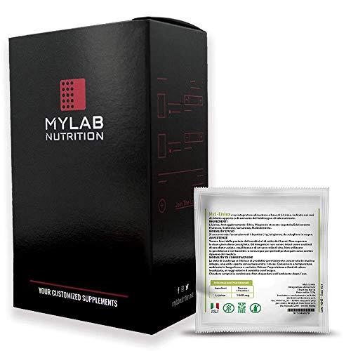 MyLab L-Lisina Aminoacido essenziale per Aumento massa muscolare e recupero - 24 bustine da 1g. Crea il tuo integratore personalizzato con MyLab Nutri