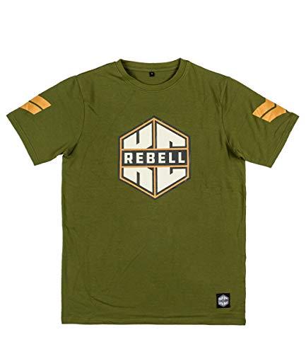 KC Rebell T-Shirt Logo Olive, Farbe:Olive, Größe:S