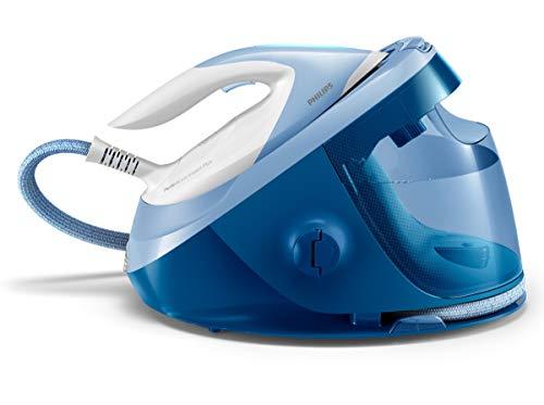 Philips Centro de planchado GC8940/20 Plancha sin quemaduras ni necesidad de realizar ajustes de la temperatura, autoapagado, ultraligera, Steamglide Advanced, 7.5 bares, golpe de vapor 470 gr, azul