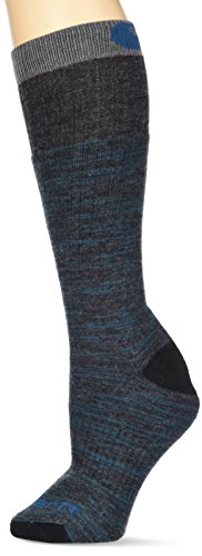Carhartt womens Knee High With Outdoor Scene Casual Sock, Charcoal Heather, Shoe Size 5-12 US